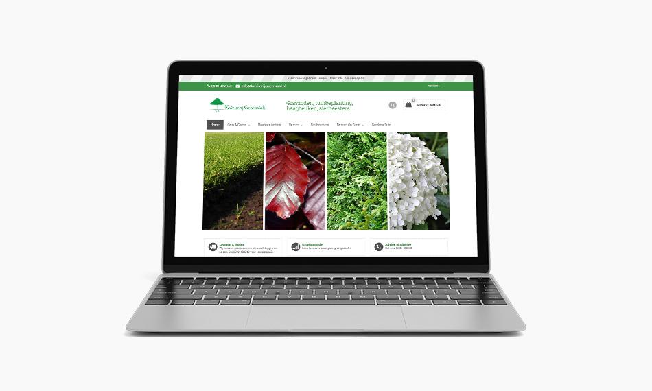 Webshop Groenwold, door Kaspcreations