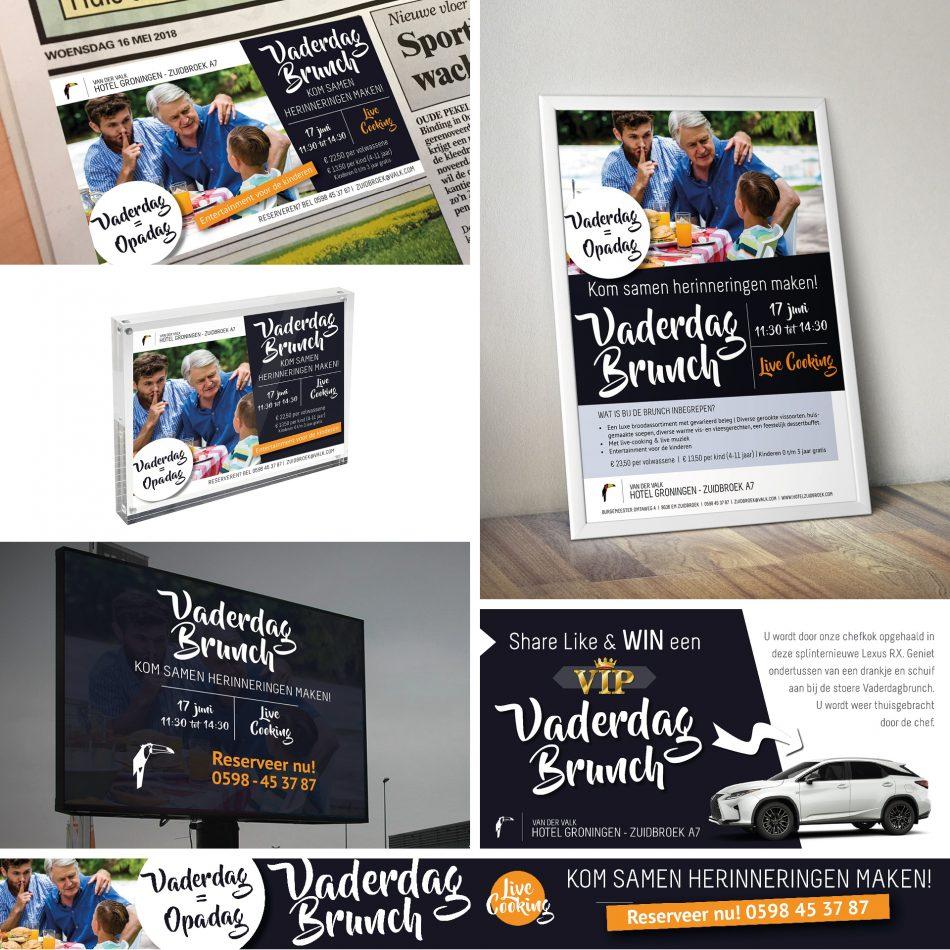 Van der Valk advertentie, tafelblok, LEDscherm, Facebook design, banner en kliklijst ontwerp door Kaspcreaitons