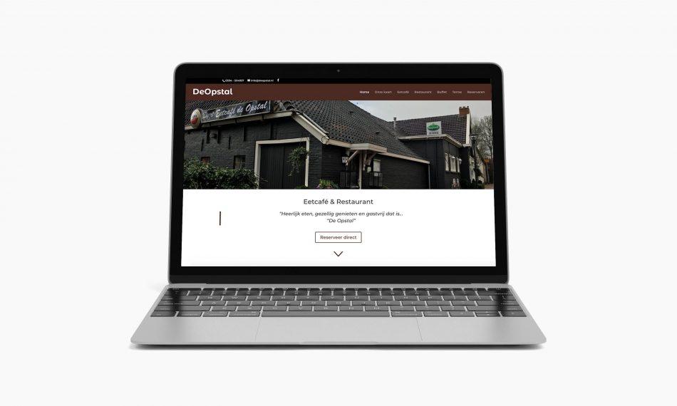 Website van De Opstal door Kaspcreations ontworpen