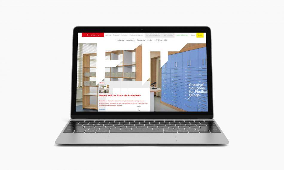 Website van Formedica door Kaspcreations ontworpen