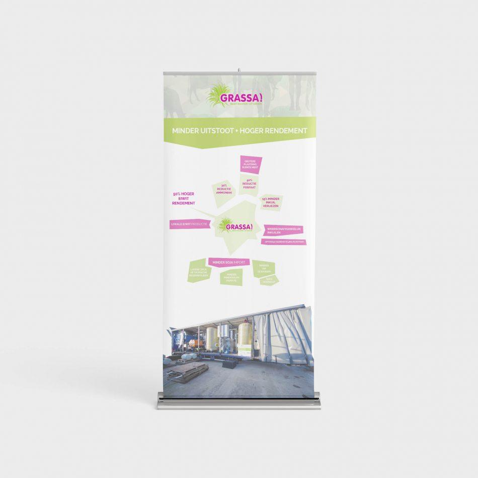 Roll-up banner Grassa, ontworpen door Kaspcreations