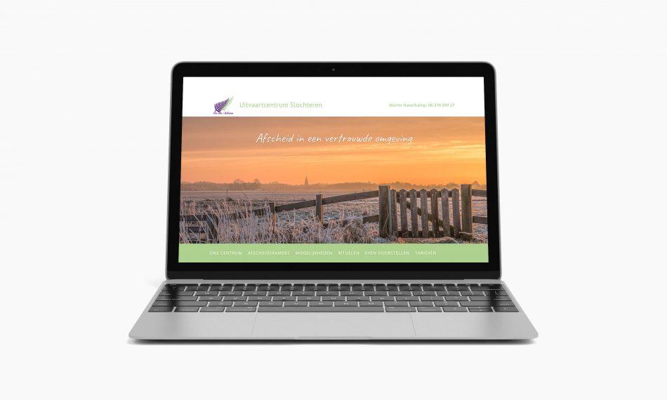 Website van In via Aeterna door Kaspcreations ontworpen