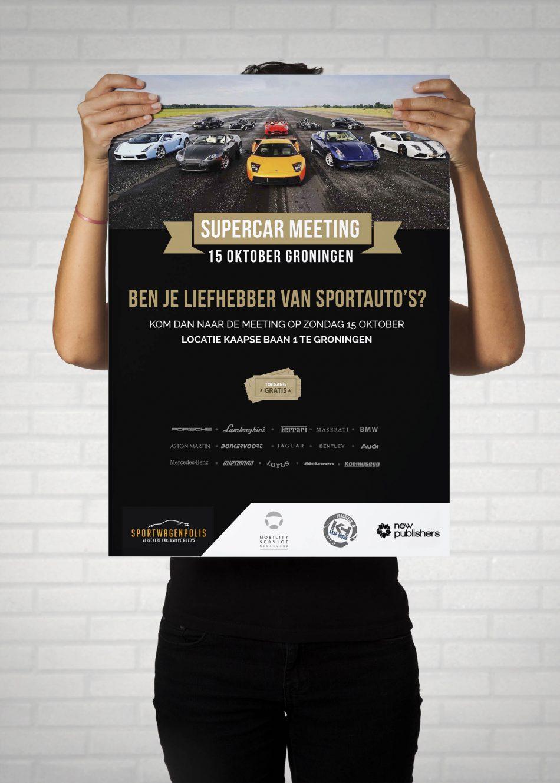 Poster van Sportwagenpolis, ontworpen door Kaspcreations